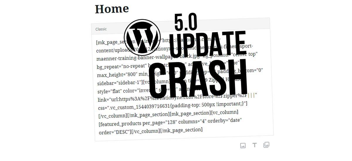 WPBakery Page Builder non funziona più? Aggiornamento WordPress 5.0